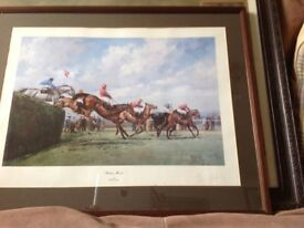 Grand national signed print beachers Brook by Alan fernley