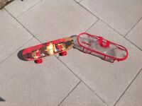 Avengers Iron Man child's skateboard, used once only, comes with clear carrying bag