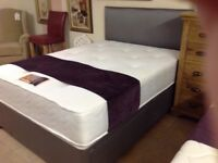 LUXURY DOUBLE BED WITH POCKET SPRUNG MATTRESS AND DRAWERS WITH HB