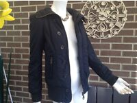 Diesel Winter Black Jacket. Size Small = Chest 31-32ins. Lady or girl. Ex.Cond.