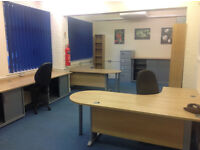 Office suite, 1420 sq ft, ground floor, central Luton. Recently refurbished, air con.