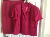Ladies suit size 18 Cerise pink
