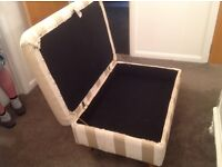 Laura Ashley Extra Large Footstool in mint as new condition REDUCED