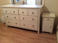 SHOP FURNITURE INCLUDES CHEST OF 8 DRAWERS + WARDROBE/CUPBOARD + BEDSIDE TABLE