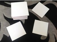 21 White Square Ceramic Wall Tiles 20cm x 20cm
