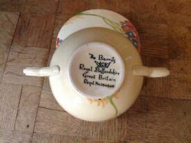 Set of six Royal Staffordshire pannikins with matching lids