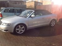 Audi A4 convertible 1.8 turbo. Two lady owners from new. Mot oct 2017