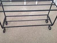 Black shoe rack