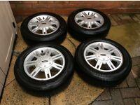 Ford Fiesta alloy wheels & new tyres set 4 just fab & bargin