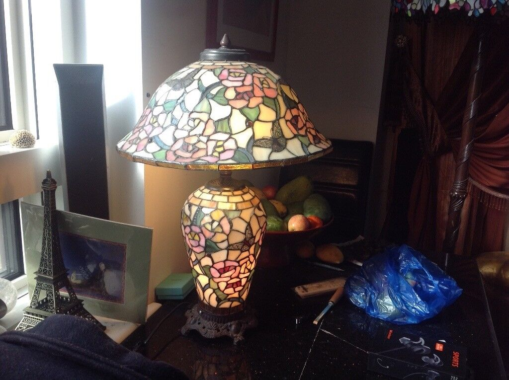 Amazing large Tiffany lamp( butterfly) , east London, south quay
