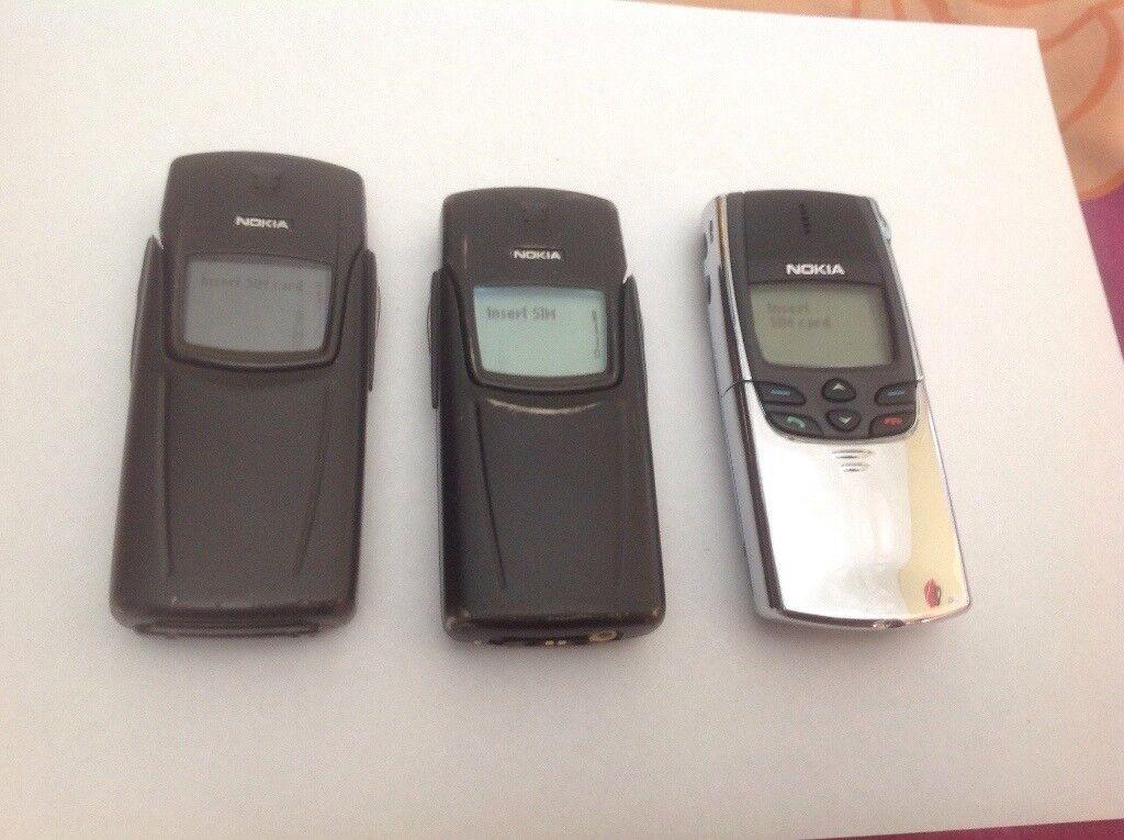 3 NOKIA CLASSIC PHONES 8910i/8810/8910