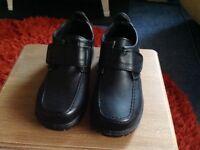 Boys school shoes black size 12