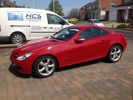 Mercedes SLK 200 convertible red vgc low miles FSH