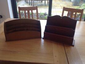 Wooden letter racks