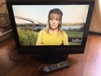 "22"" flatscreen TV and DVD player combo plus remote control"