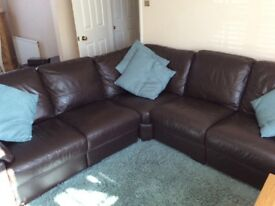 Lovely leather suite and electric recliner