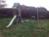 Large quality swing and slide set