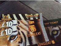 ** LONGLEAT SAFARI ** day ticket 2 ad & 2 child + £25 food voucher