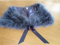 Grey fur stoal - Laura Ashley