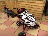 Clicgear Golf Trolley and Srixon Bag