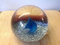 CAITHNESS ICE FLAME PAPERWEIGHT LIMITED EDITION - TERRIS 1979 - SCOTLAND