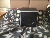 Logitech 5.1 speakers with subwoofer + 2.1 & DVD player