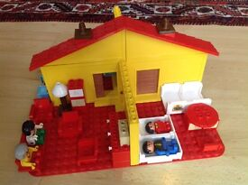 Lego duplo house with figures and furniture