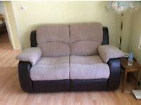 2 seater manual recliner sofa/settee Charleston range...from The Range