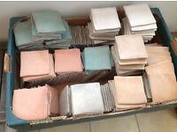 Rustic ceramic tiles 10cm, good condition seconds