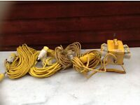4 WAY OUTDOOR EXTENTION SOCKET AND CABLES