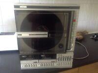 Amstrad sm104 vertical vinyl player, radio, tape, retro