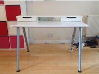 Ikea white computer study desk