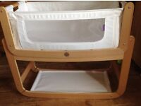 Snuzpod co sleeping crib-hardly used!in natural colour