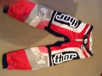 Used Thor motocross trousers.