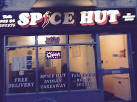 SPICE HUT INDIAN TAKEAWAY... FOR SALE GOSPORT!!