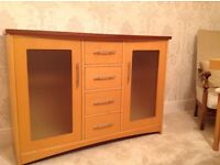 Solid wooden sideboard with 4 drawers