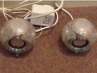 Next light up mains speakers for MP3/phones