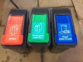 25L Recycling bins, Red,Green and Blue