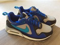 Boys Air Max trainers in size 5. Blue and in excellent condition.