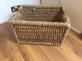 Log basket.