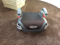 Graco black booster car seat