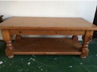 Gorgeous large pine coffee table