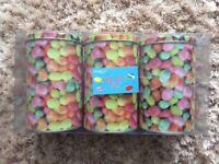BNIP Set of 3 sweetie print storage tins/jars