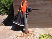 Flymo leaf blower with bag