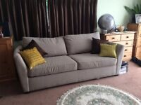 Very comfy large sofa bed made by John Lewis