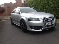 AUDI S3 2007 FULLY LOADED REAL EYE CATCHER 350 BHP DUMP VALVE GREAT CAR AT BARGAIN PRICE MOST SELL