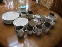 Poole Pottery Twintone Oven/Dishwasher safe Dining Set