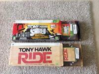 Xbox 360 Tony hawk skatboard game