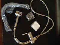 Luxury silver sink taps