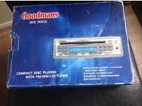 Goodman car compact disc player